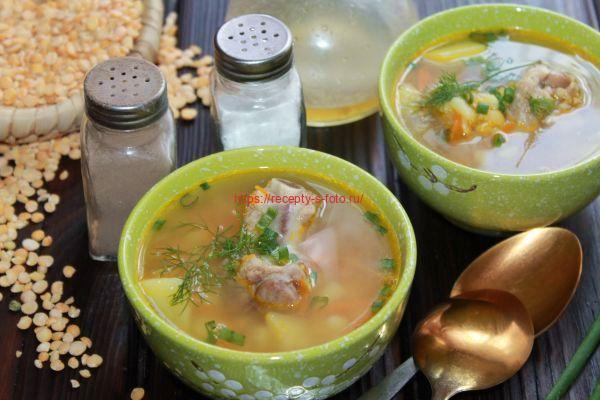 Суп гороховый с ребрышками