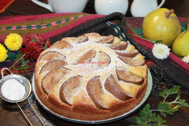 пирог из кукурузной муки с яблоками